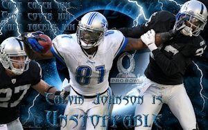 Detroit Lions Unstoppable Calvin Johnson Wallpaper