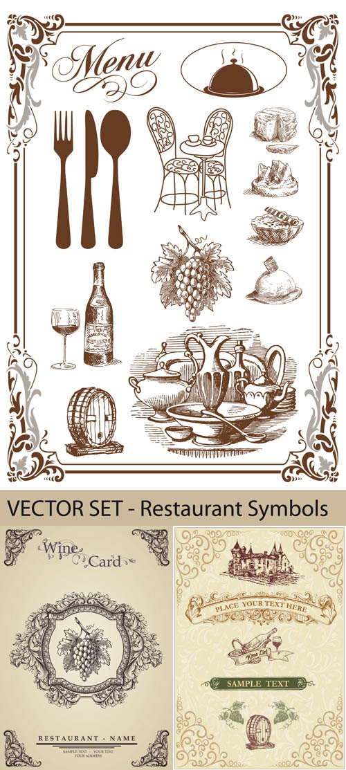 Stock: Wine Card - Design Elements and Objects for Restaurant
