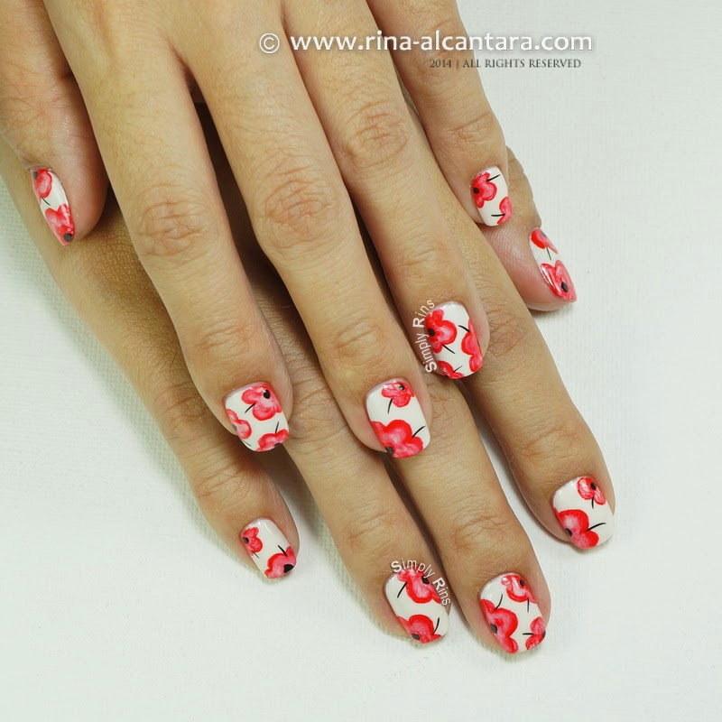 Pretty Poppies (Floral) Nail Art