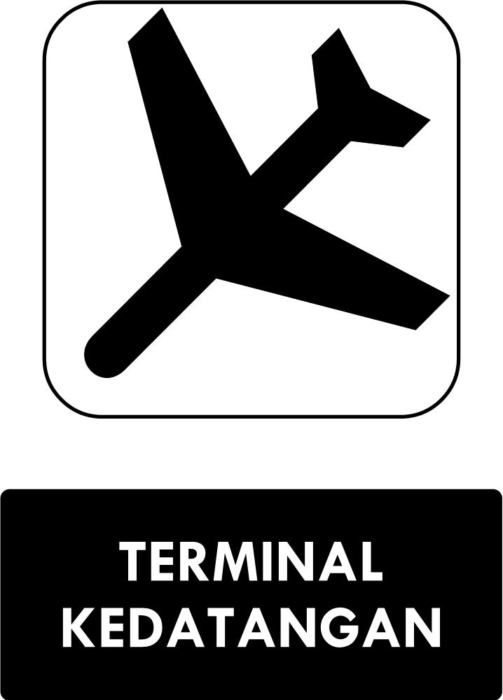 Rambu Terminal Kedatangan
