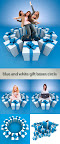 Stock Photo: Blue and white gift boxes circle