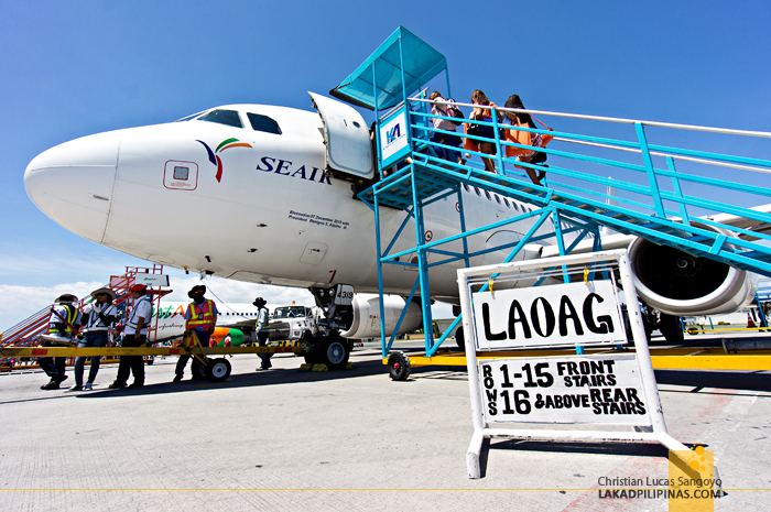 Boarding Time En Route from Manila to Laoag via SEAIR