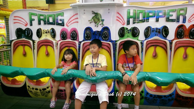 The kids on the Frog Hopper