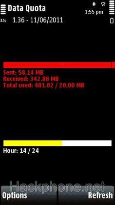 Data Quota - Phần mềm quản lý dung lượng gprs cho Nokia