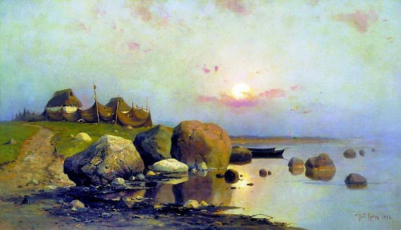 Julius Sergius von Klever - Fishing village