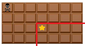Otrávená čokoláda ilustrace