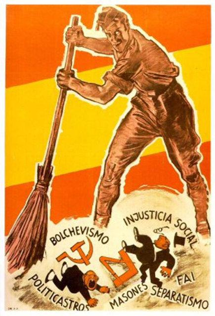 Большевики. Несправедливость социализма. Политики (политиканы?). Масоны. Сепаратисты. ФАИ (Федерация анархистов Иберии)