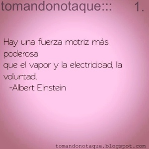 """frases de voluntad albert einstein"""