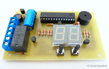 AVR Switch Timer - Microcontroller Project Circuit