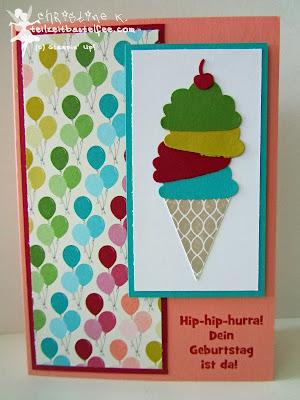 stampin up, pennant parade, wimpelwünsche, alles gute zum geburtstag, birthday basics, ice cone
