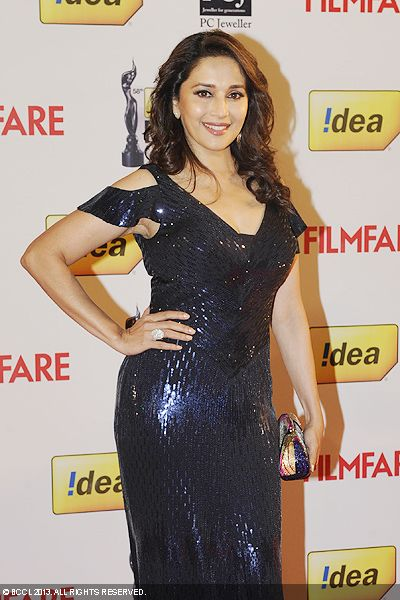 Bollywood&#039;s &#039;Dhak Dhak&#039; girl Madhuri Dixit during the 58th Idea Filmfare Awards 2013, held at Yash Raj Films Studios in Mumbai.Click here for:<br />  58th Idea Filmfare Awards