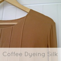 coffee dye silk