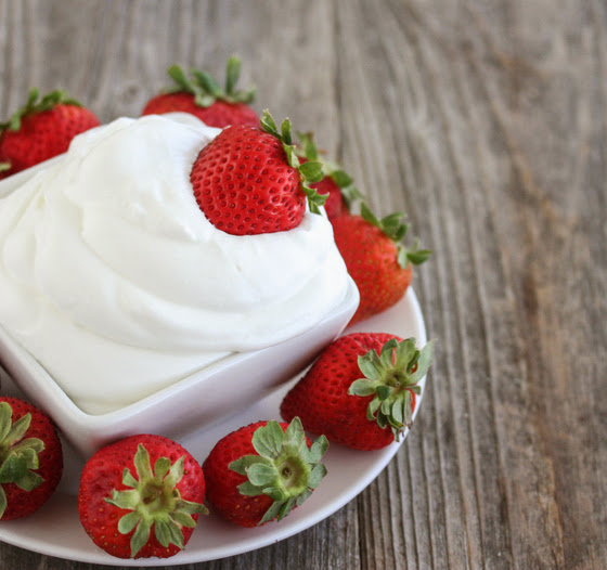 close-up photo of a bowl of coconut whipped cream