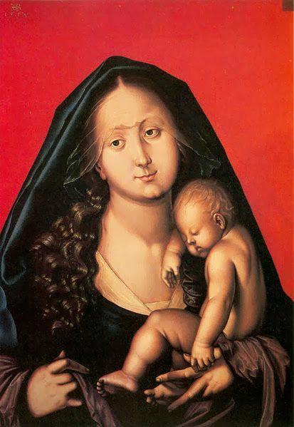 Hans Baldung - Maria mit dem schlafenden Kinde