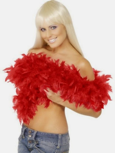 Decorative feather boa scarves