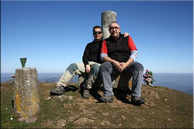 Alen mendiaren gailurra 803 m.  --  2014ko martxoaren 16an
