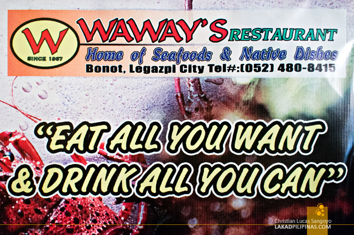 Buffet at Waway's Restaurant in Legazpi City