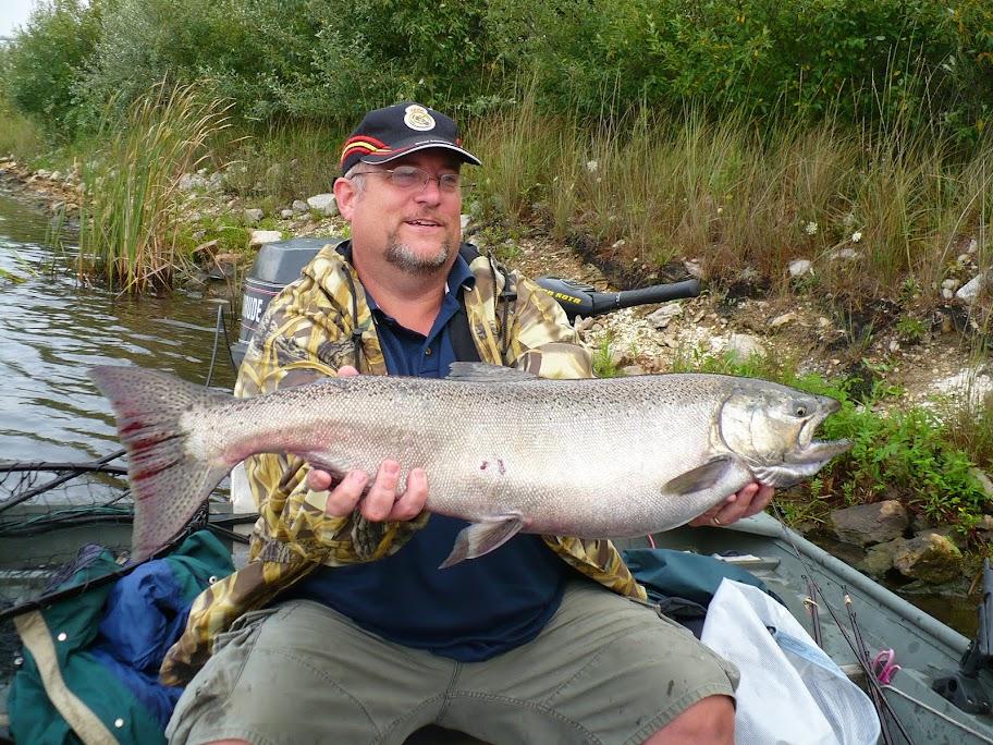 King Salmon River Fishing in Michigan
