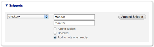 UI extension snippet - Add to note when empty