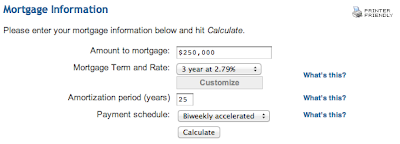 CanEquity Mortgage Calculator Entry