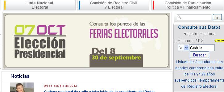 Donde votar Venezuela 2012  7 Octubre