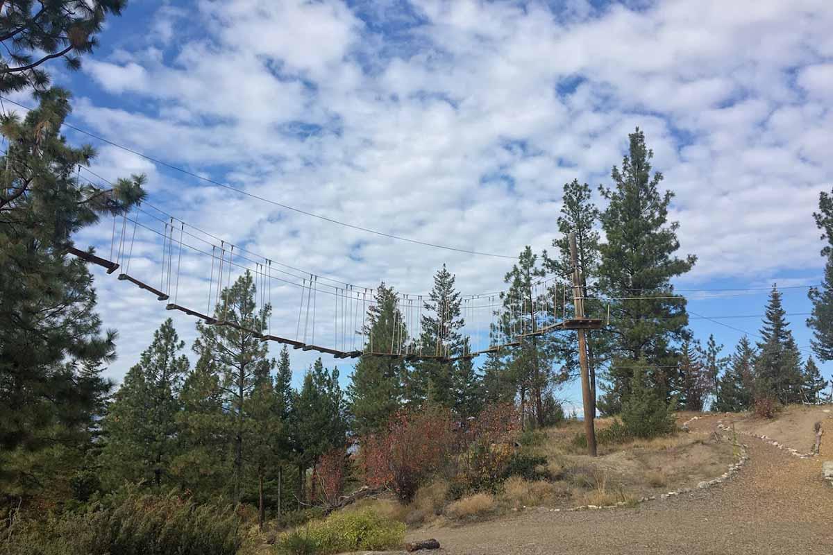 Myra Canyon Adventure Park ropes course