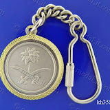 Saudi Arabia Logo. Traditional Arabic impressions. Silver minted brass medal 35 mm in diameter.