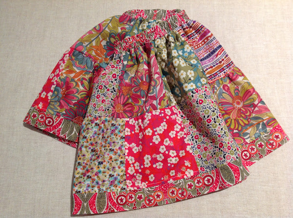 Liberty Girls Patchwork Skirt by Rhapsody and Thread