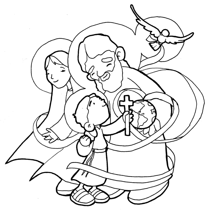 Holy Trinity coloring pages