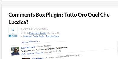 Francesco Gavello: Comment Box Plugin: è tutto ora quel che luccica?