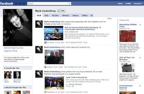 2009 yılında Facebook