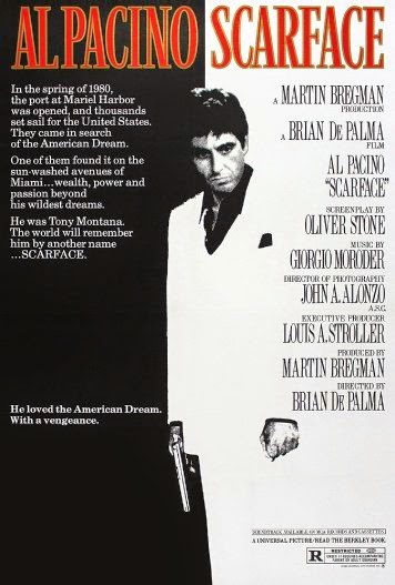 Poster Of English Movie Scarface (1983) Free Download Full New Hollywood Movie Watch Online At alldownloads4u.com