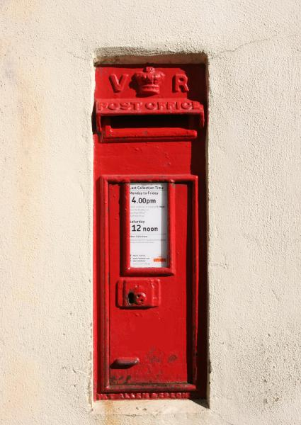 Victorian Royal Mail red letterbox