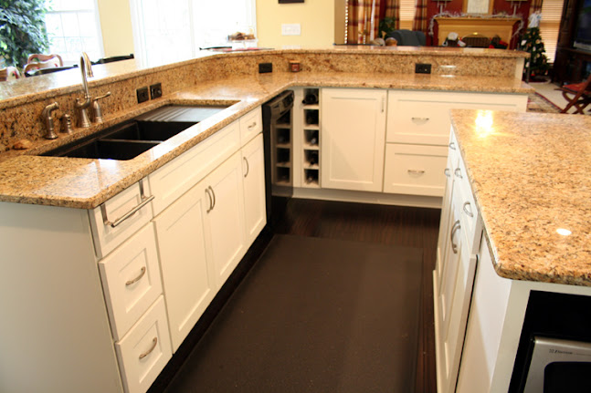 Final Kitchen White Cabinets Dark Floors