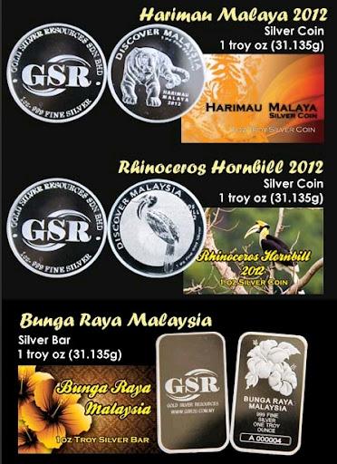 Silver Coin dan Silver Bar 1 troy oz limited edition hanya di GSR