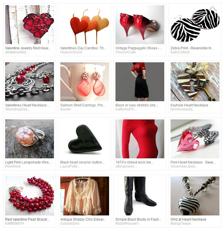 Peach Zebra Valentine Treasury