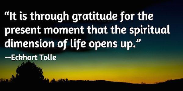 Eckhart Tolle on gratitude