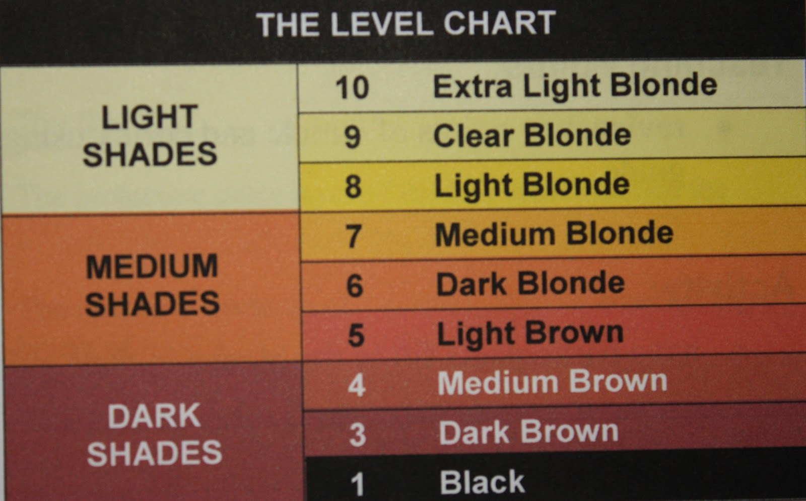 The International Hair Colour Chart  Back2MyRoots