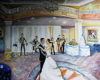 """Kristine&Alec's Wedding"" at National Museum of Women in the Arts/oil/24x28"