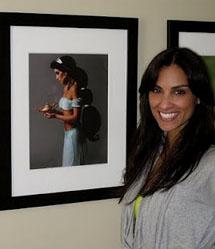 Modelo fotografada como Jasmine