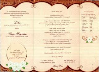 Contoh Undangan Pernikahan Unik Terbaru 2013