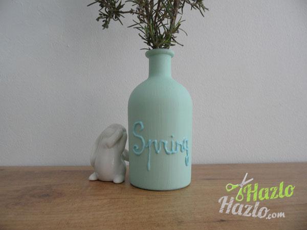 Cómo pintar un jarrón con chalk paint