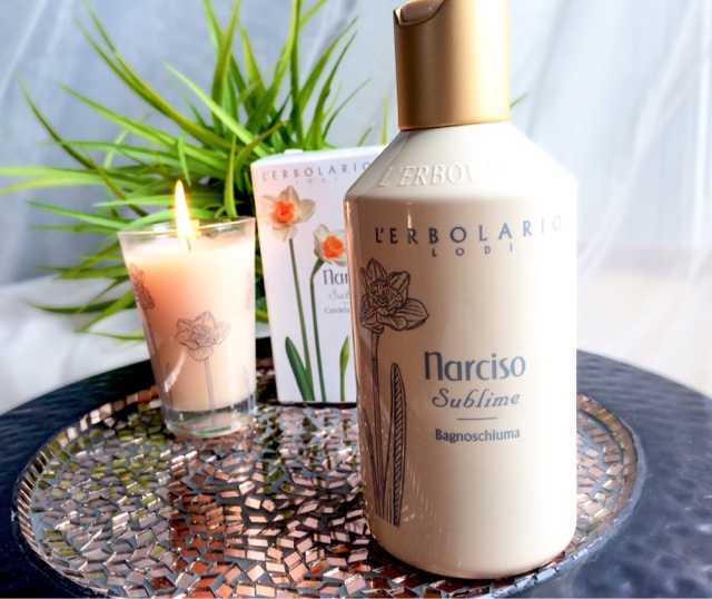 L'erbolario Narciso Bath foam and candle review