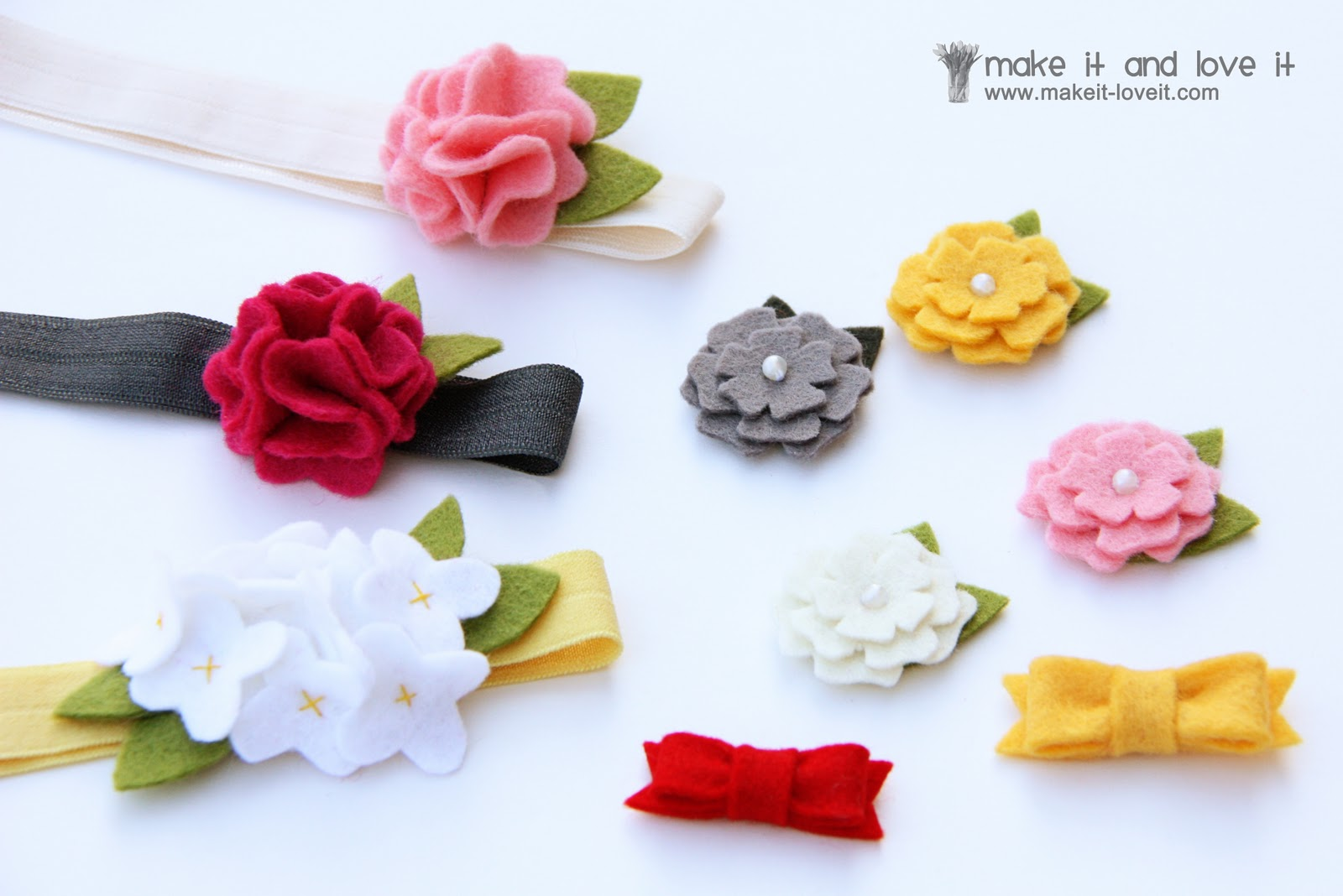 Diy hair accessories for baby girl - Wool Felt Hair Accessories For Baby
