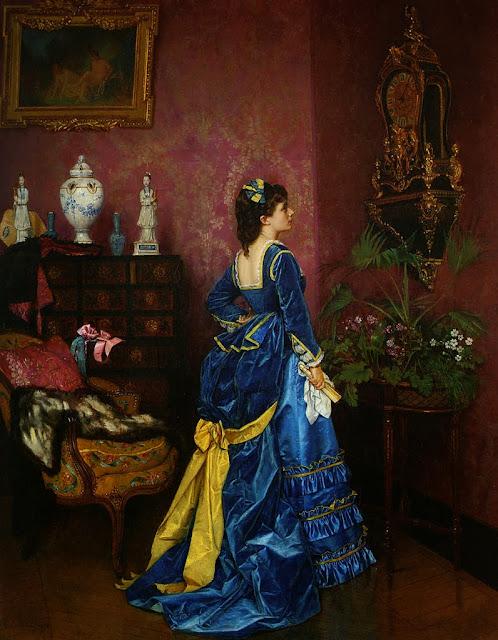Auguste Toulmouche - Le robe bleu