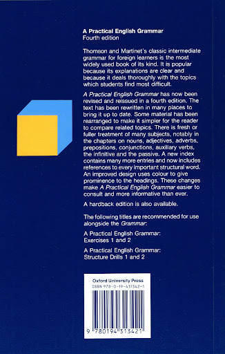 Oxford a practical english grammar fourth edition thomson martinet payments fandeluxe Images