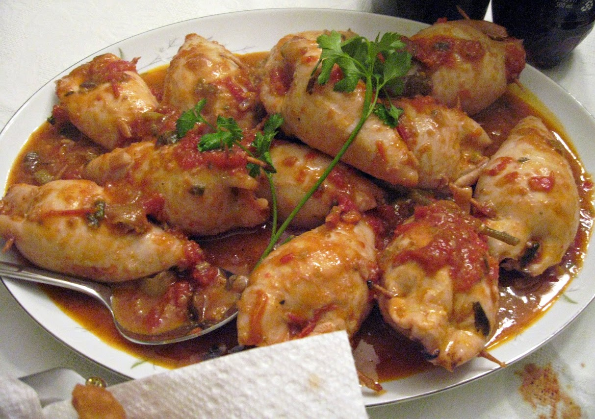 Stuffed Squid (Seppie o Calamari Ripieni)