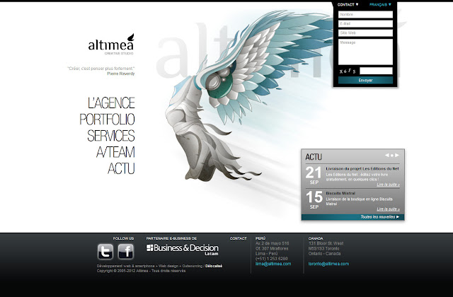 *科技感十足的「翼」Web Design|Agence Web Site 2