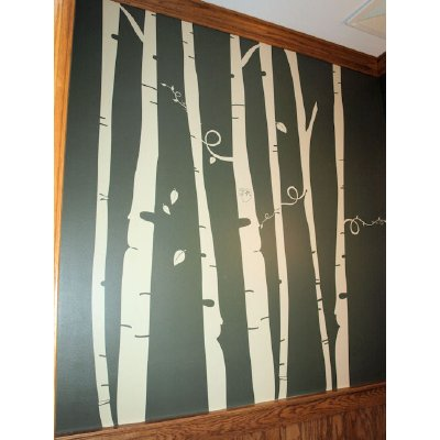 The forge diy wall mural for Diy birch tree wall mural