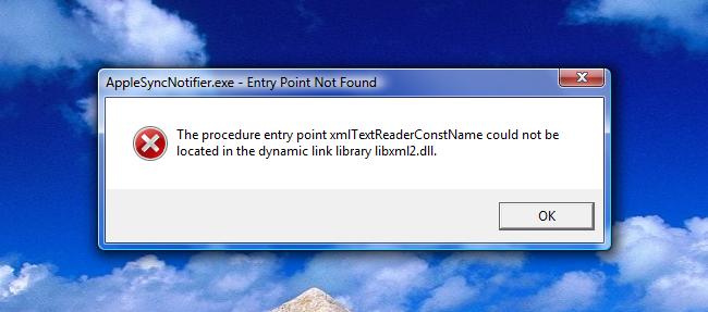 how to fix libxml2.dll error